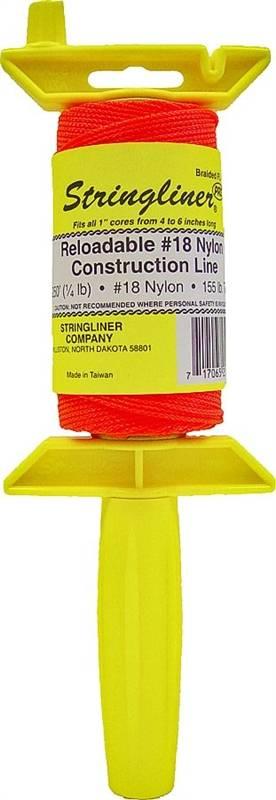 Stringliner PRO 250 Ft Fluorescent Pink Braided Nylon Mason Line Reel