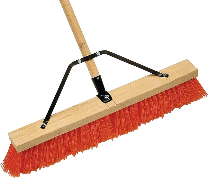 Mintcraft 1435ajor Push Broom With Brace 24 In Polypropylene