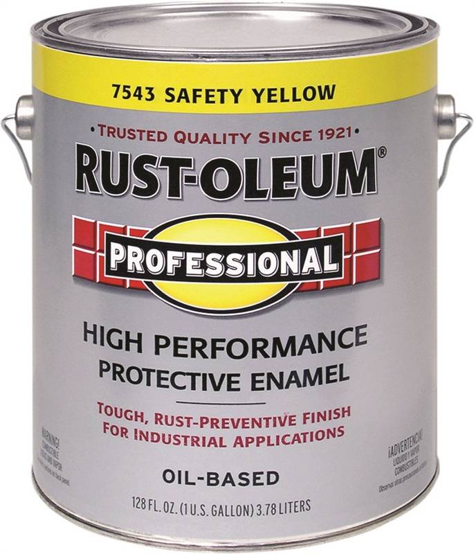 Rustoleum 7543402 high performance oil based rust preventive protective enamel paint safety yellow Oil based exterior paint brands