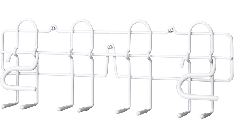 closetmaid 3462 broom and mop holder  16 in w  metal  epoxy coated  white