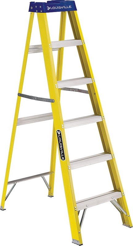 Louisville Fs2006 Commercial Step Ladder 250 Lb 3 In Non