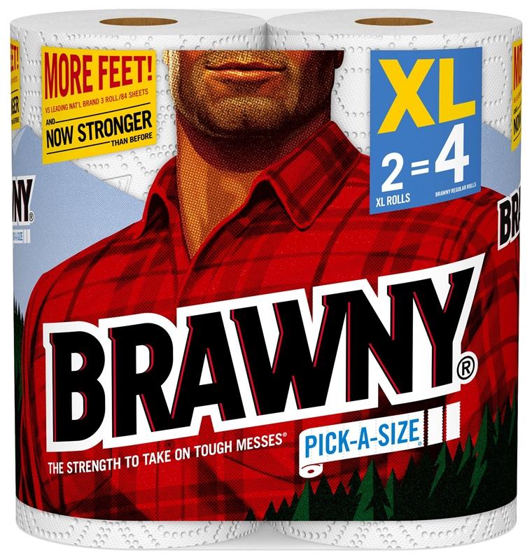 Towel Brawny 2xl White Pas Case Of 12