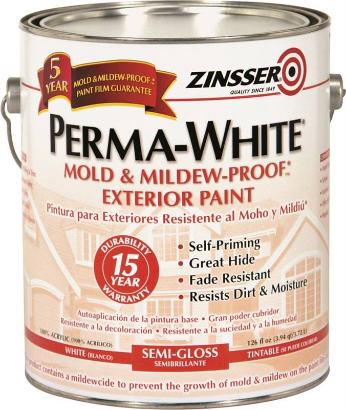 Zinsser 03131 Perma White Exterior Paint 1 Gal Can 300