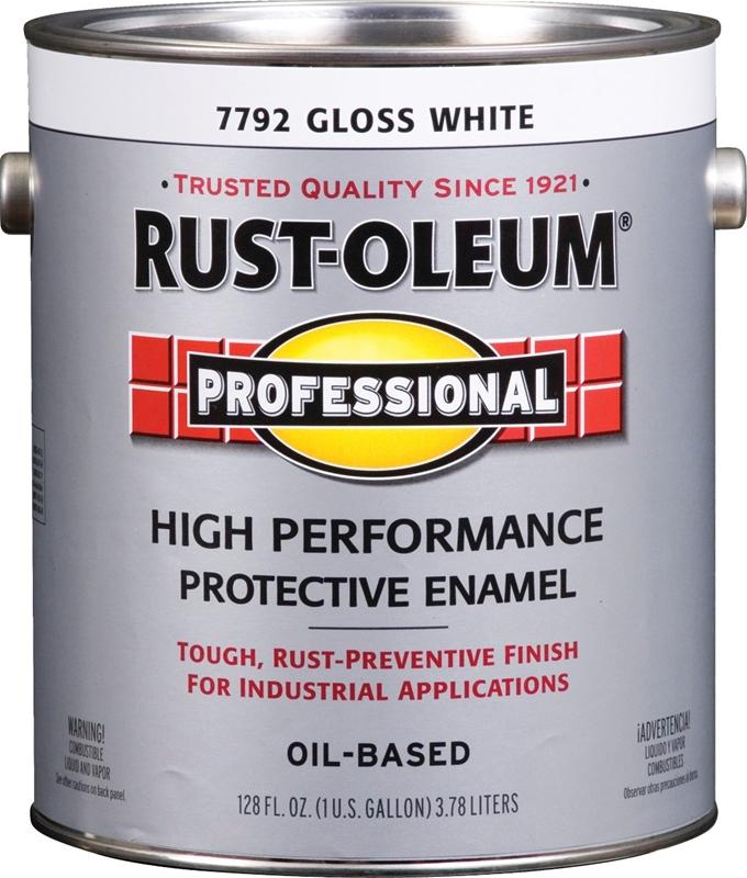 Rustoleum 7792402 High Performance Oil Based Rust Preventive Protective Enamel Paint White
