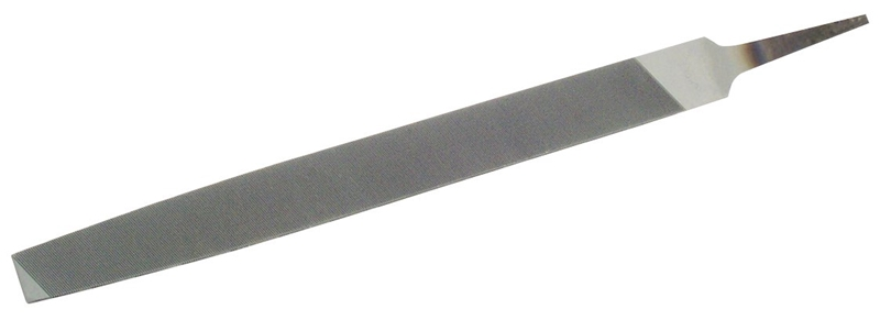 Nicholson 21832N Tapered Mill File Without Handle, 8 in L, Black