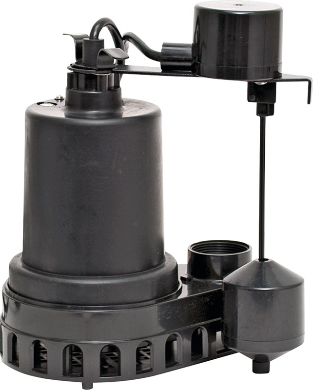 Superior 92372 High Capacity Sump Pump 48 Gpm 1 3 Hp 120 V Thermoplastic 1 1 2 In Outlet 25