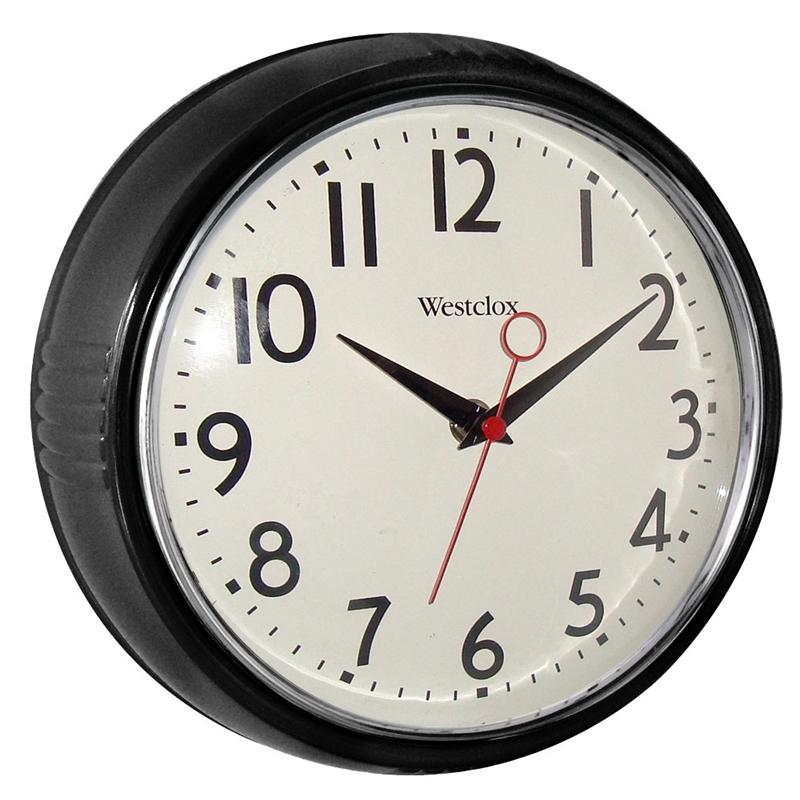 Westclox 32042bk Extra Thick Retro Wall Clock Round 9 1