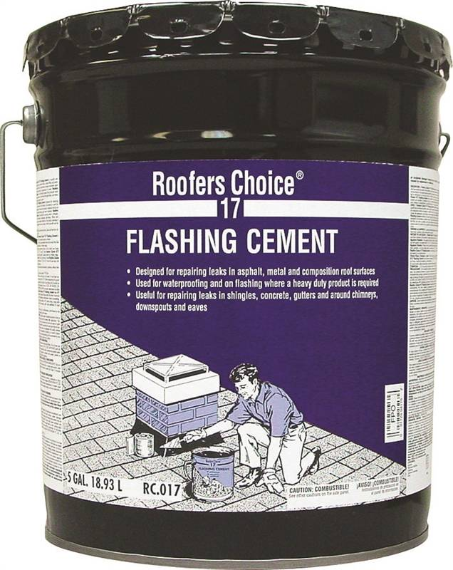 Henry 17 Flashing Cement, 5 gal, Pail, 12 5 sq-ft/gal at 1/8 in Thick  Coverage