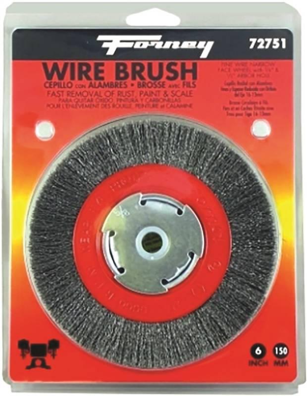 Forney  6 in Fine Crimped  5//8 in Dia Wire Wheel Brush  6000 rpm