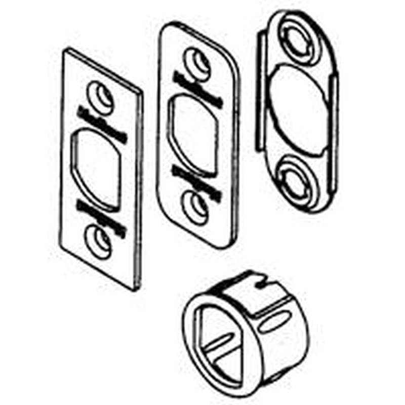 Kwikset 81845 001 6 Way Plain Latch Service Kit Polished Brass
