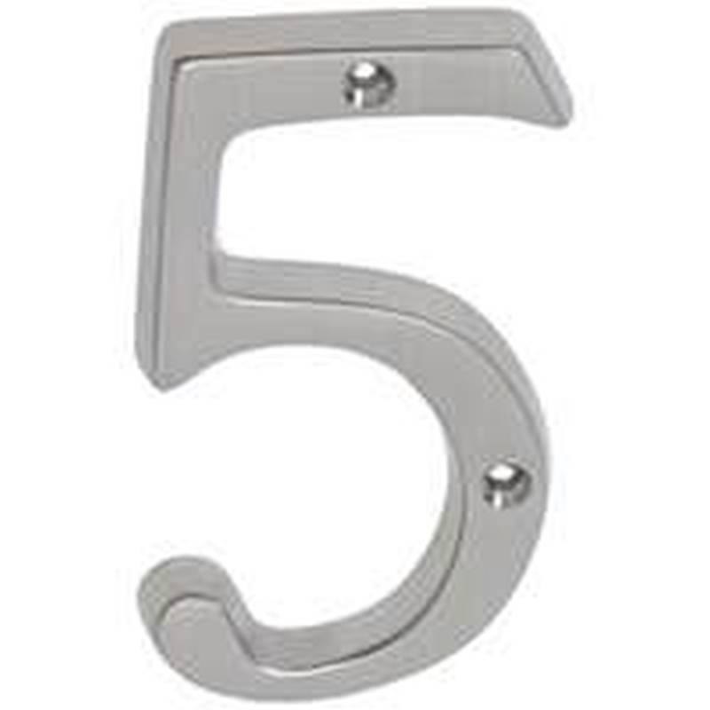 Schlage sc2 3056 619 classic house number 5 for Classic house numbers