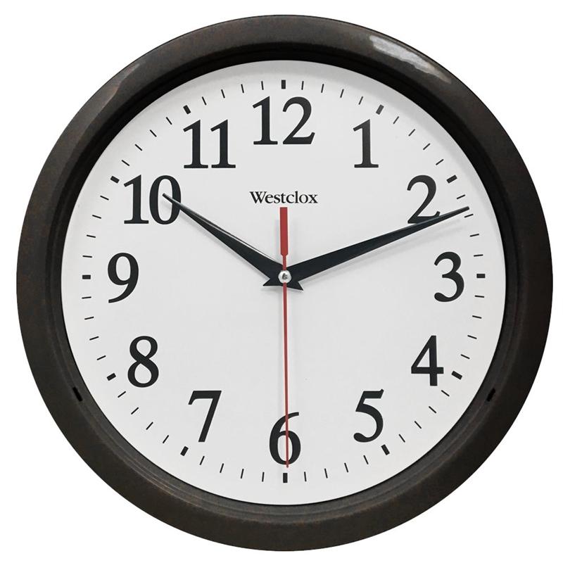 Westclox 461861 Wall Clock Analog Display Round 10 In Black