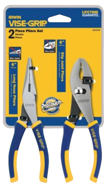 """2 LONG NOSE PLIERS 6 1//2/"""" HAND TOOL YELLOW"""