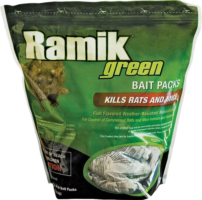 Ramik Hacco 116341 Mouse Killer, 4 Oz, Pouch, Green