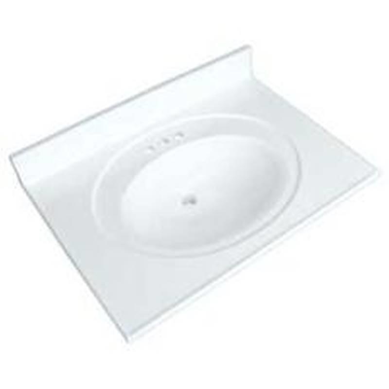 Luxo Marbre Posb3122 4 S Vanity Top 31 In L X 22 In W Culture Marble White