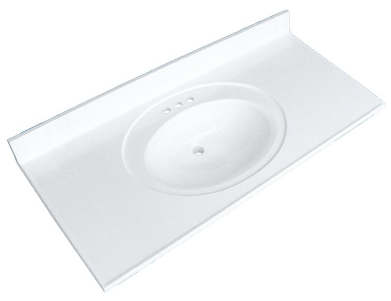 Luxo Marbre Posb4922 4 S Vanity Top 48 In L X 22 In W Culture Marble White
