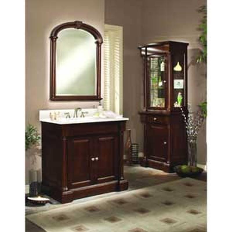 Luxo Marbre Pb3040mr Framed Bathroom Mirror 40 1 2 In L X 31 1 8 In W X 2 5 16 In T