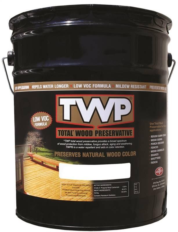 Amteco TWP TWP-1500-5 Wood Preservative, 5 gal Can, 150 - 450 sq-ft/gal,  Clear
