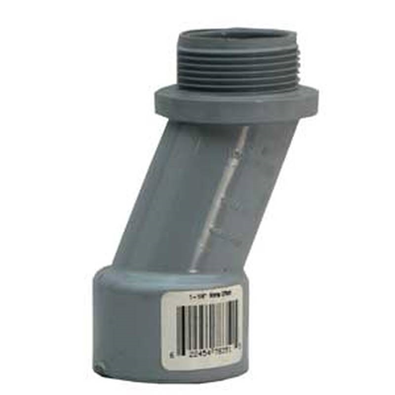 Offset meter pvc grey in
