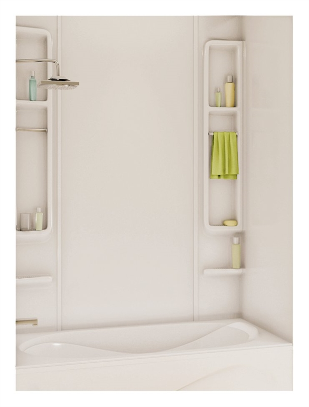 Maax Finesse 5-Piece Bathtub Wall Kit, 48 - 61 in L x 30 - 34 in W x ...