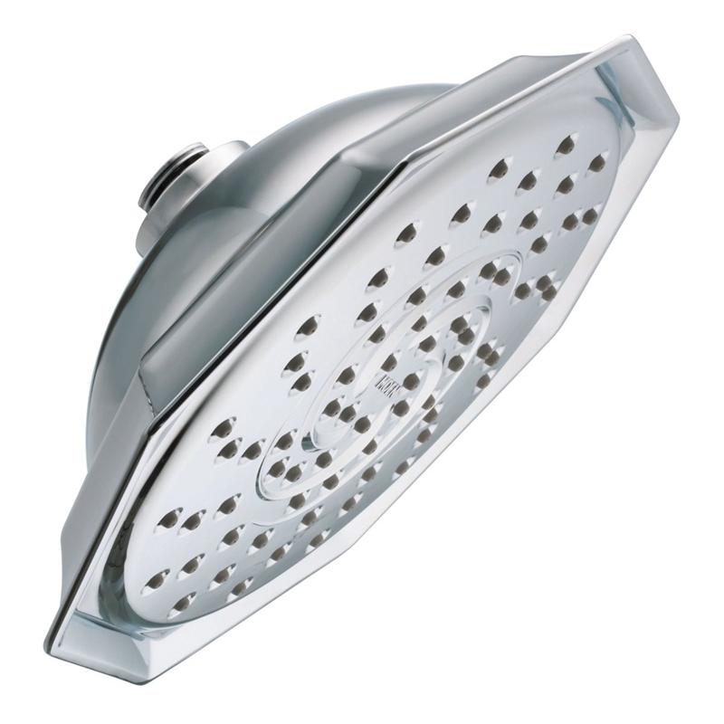Moen 21999EP Showerhead, 2 gpm, 9 in Head diameter, Metal/Plastic ...