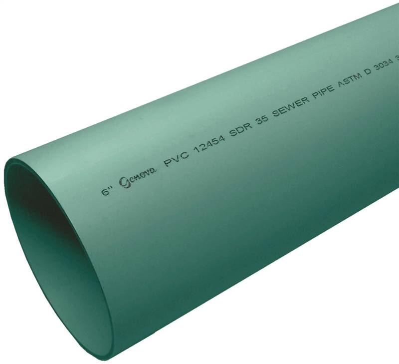 Genova 400 solid solvent weld sewer and drain pipe 6 in x for Mineral wool pipe insulation weight per foot