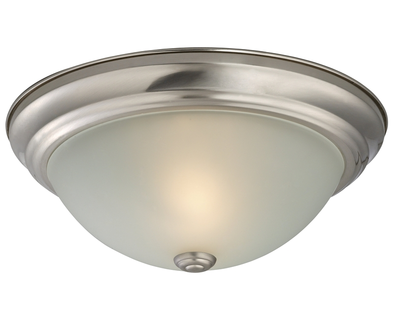 low priced b75ab d3874 Prosource 9815721 Dimmable Ceiling Light Fixture, (2) 60 W Standard/CFL  Lamp, Brushed Nickel 2 Pack