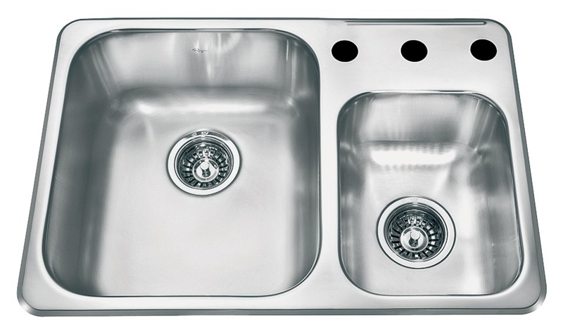 Franke Consumer Reginox Kitchen Sink, 18-1/8 in H x 26-1/2 in W, 18 ...