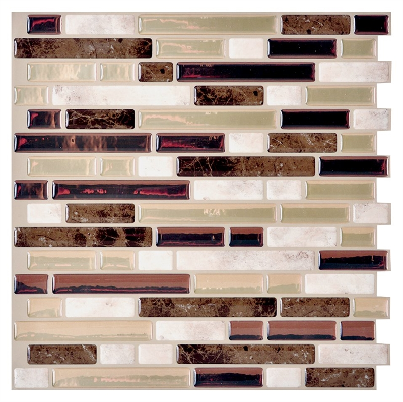 Smart Tiles Sm1042 6 Self Adhesive Mosaic Wall Tile 10 In
