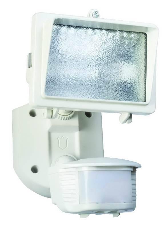 Designers Edge L-6006WH Single Head Motion Activated Flood Light, 120 V,  150 W, Halogen, 150 W