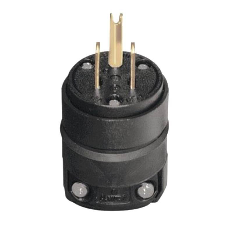 Leviton 515PV Polarized Electrical Plug, 125 V, 15 A, 2 P, 3 W, Black
