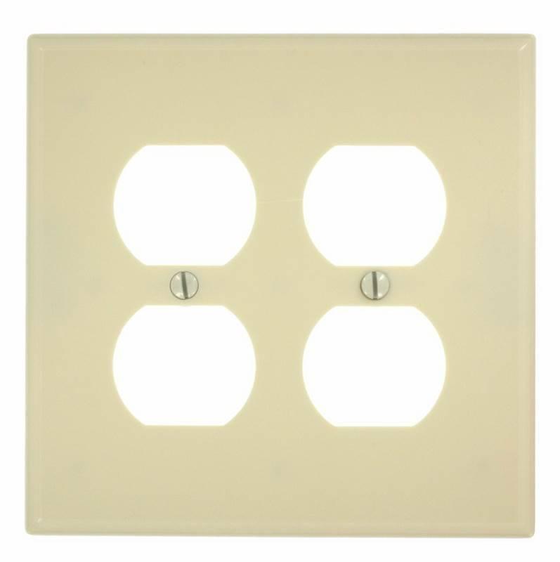 Leviton 001-88103 White Duplex Device Receptacle Wallplate Oversized