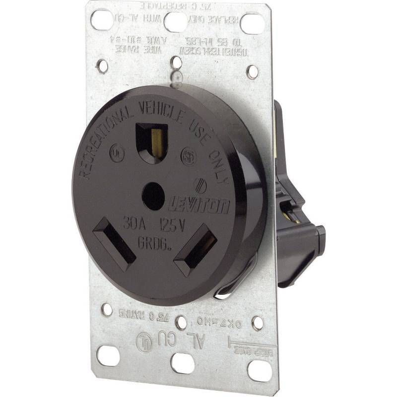 Leviton R10-07313-S00 Electrical Receptacle, 30 A, 125/250 VAC, 4 ...