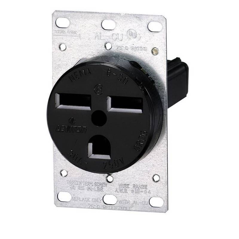 Leviton R10-5372-500 Grounding Single Outlet Electrical Receptacle ...