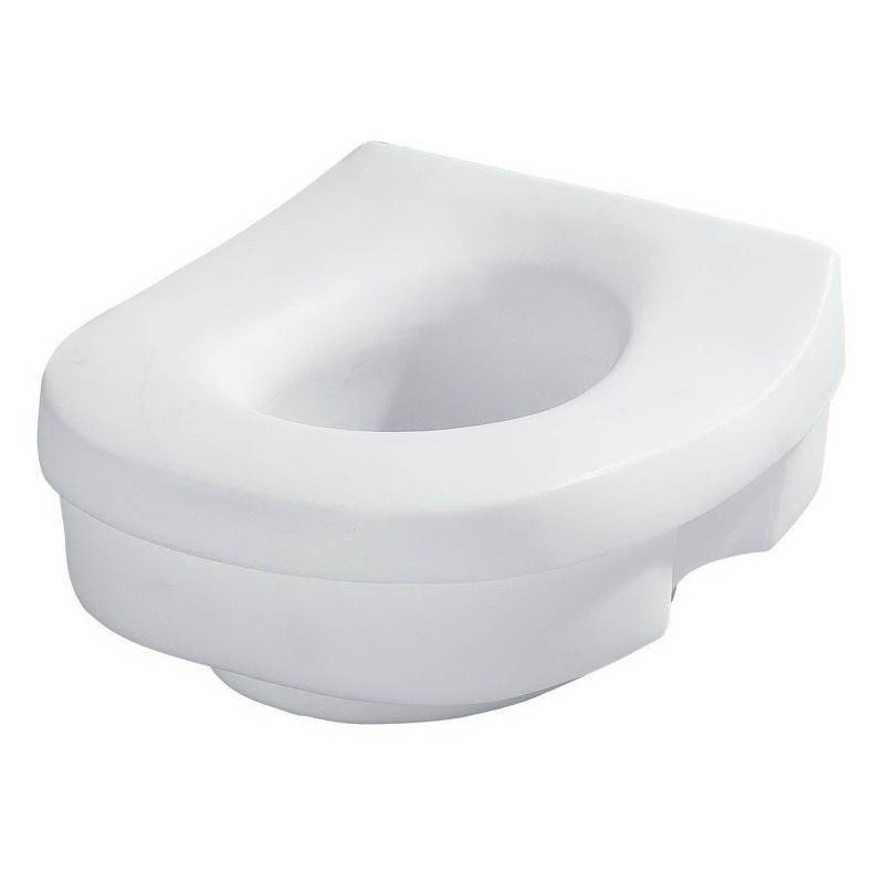 Tremendous Moen Dn7020 Elevated Toilet Seat For Use With Round And Elongated Toilets Plastic Ibusinesslaw Wood Chair Design Ideas Ibusinesslaworg
