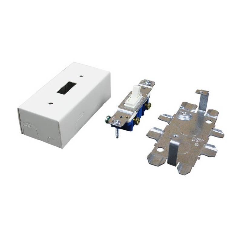 Wiremold 500/700 Switch Box, 1 Gang, 4-1/8 in L X 2 in W X 1-3/8 in D