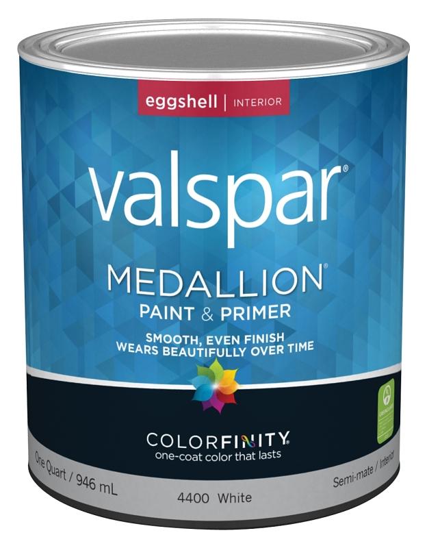 Valspar 4400 Medallion Interior White Paint & Primer, Eggshell, 1 Qt Can - CBS BAHAMAS LTD
