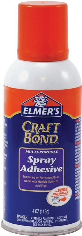 Elmers Spray Adhesive, Mint Scented, White, 4 oz Can - CBS BAHAMAS LTD