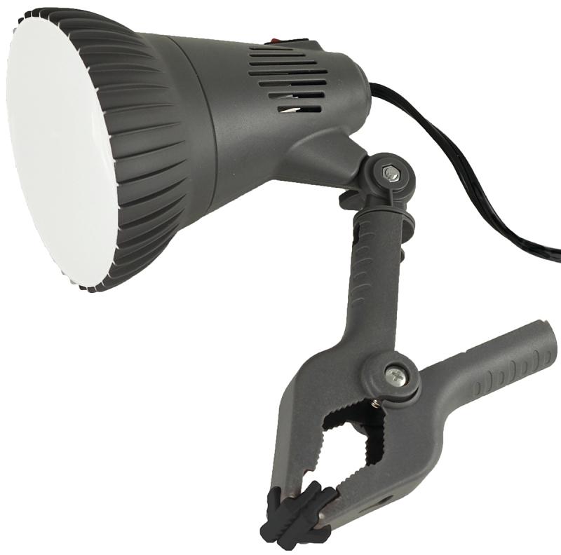 PowerZone O-CLN-1000 Clamp Light, LED Lamp, 13 W, 6 ft Cord - CBS BAHAMAS LTD