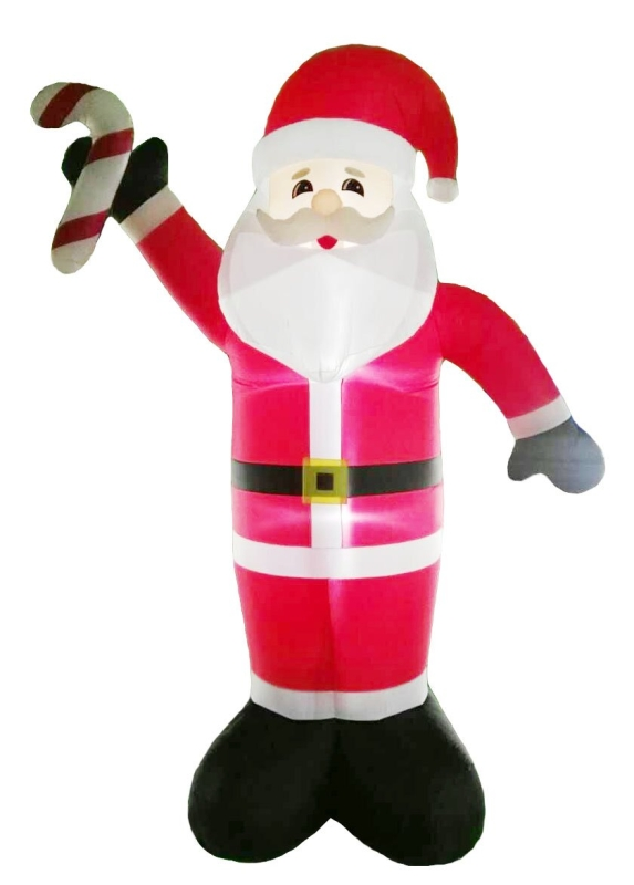 Santa's Forest 90347 Outdoor Pre-Lit Giant Inflatable Santa Clause With Candy Cane, 19 ft Tall - CBS BAHAMAS LTD