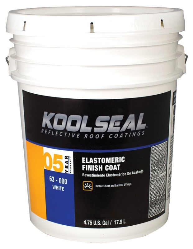 Kool Seal 5-Year Elastomeric Finish Coat, White, 4.75 Gal - CBS BAHAMAS LTD