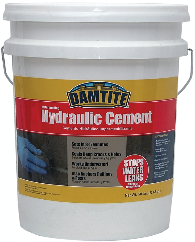 DAMTITE 07502 Waterproofing Hydraulic Cement, Gray, 50 lb Pail - CBS BAHAMAS LTD