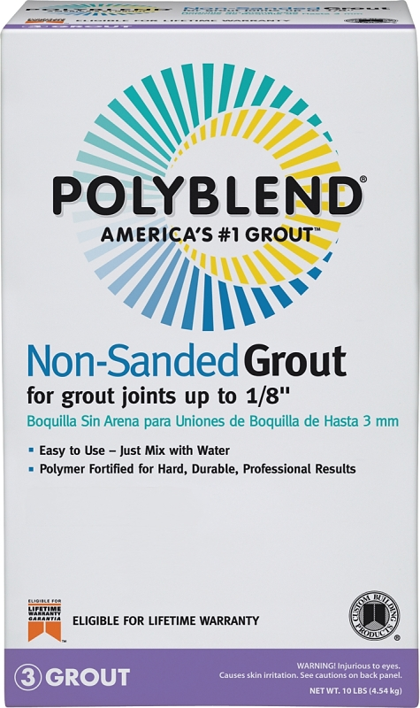 Custom PBG0910 Polyblend Non Sanded Tile Grout, Natural Gray, 10 lb Bag - CBS BAHAMAS LTD