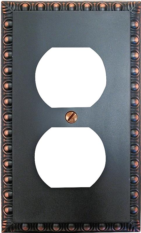 Amerelle 90DVB Duplex Wallplate, 1-Gang, Metal - CBS BAHAMAS LTD