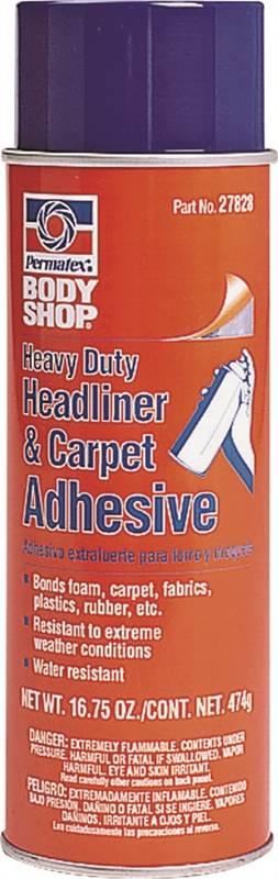 Permatex Headliner and Carpet Spray Adhesive, Solvent, Amber, 20 oz Can - CBS BAHAMAS LTD