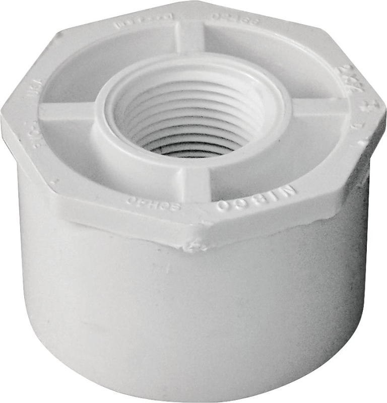 LASCO PVC Reducer Bushing (Spigot x FPT), 2 in x 3/4 in - CBS BAHAMAS LTD