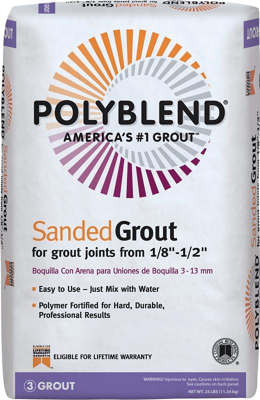 Custom PBG1125 Polyblend Sanded Tile Grout, Snow White, 25 lb Bag - CBS BAHAMAS LTD