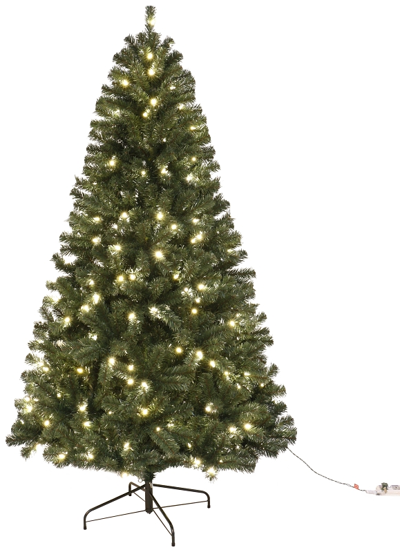 Santa's Forest 61912 Sheared Noble Fir Pre-Lit Artificial Christmas Tree, Clear LED Lights, 12 ft - CBS BAHAMAS LTD