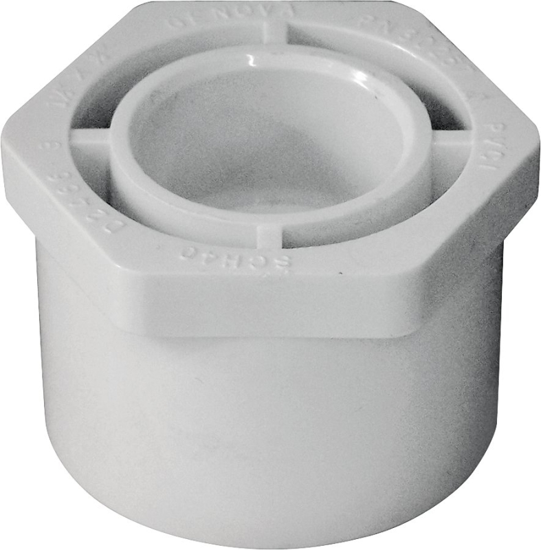 LASCO PVC Reducer Bushing (Spigot x Slip), 1-1/2 in x 3/4 in - CBS BAHAMAS LTD