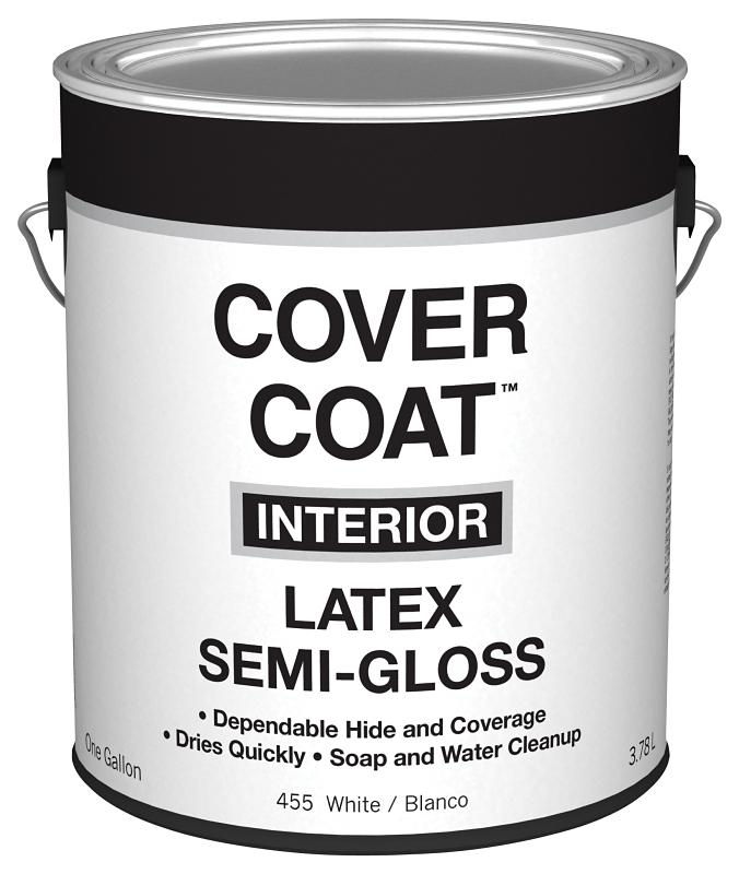 Valspar 455 Cover Coat Interior White Latex Paint, Semi-Gloss, 1 Gal Can - CBS BAHAMAS LTD